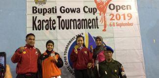 Para Atlet kejuaraan karate Bupati Gowa Cup 2019 asal Kabupaten Gowa. (BERITA.NEWS/ACP).