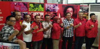 Dg Ical (ketiga dari kanan) Ikuti Fit and Proper Test di Kantor DPC PDI-P Makassar. (BERITA.NEWS/Andi Khaerul).