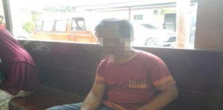 ZN (45) yang diduga mengalami gangguan jiwa. (BERITA.NEWS/Muh Ilham).