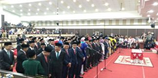 Pelantikan Anggota DPRD Sulsel Periode 2019-2024. (BERITA.NEWS/Andi Khaerul)