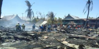 Suasana kebakaran yang rata dengan tanah. (BERITA.NEWS/Muh Ilham).