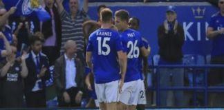 Leicester City kalahkan Tottenham Hotspur 2-1 di Liga Inggris. (AP Photo/Leila Coker)