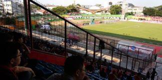 Sepi penonton dan banyak kursi kosong laga PSM Makassar vs Madura United. (BERITA.NEWS/Alfiandiz).