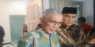 Mantan wakil Presiden Republik Indonesia ke-6 periode 1993-1998 Try Sutrisno. (BERITA.NEWS/JUN).