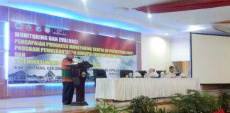 Situasi Monev yang digelar Di Balai Kartini Bantaeng. (BERITA.NEWS/Saharuddin).