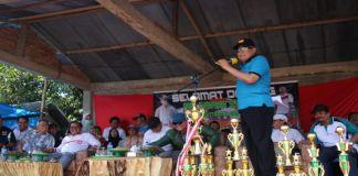 Sambutan Bupati Bulukumba dalam pembukaan turnamen sepakbola Gantareng cup III. (BERITA.NEWS/IL).