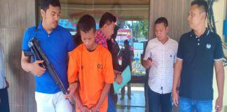 Tri (28) pelaku Pembobol Counter Handphone di Takalar. (BERITA.NEWS/Abdul Kadir).
