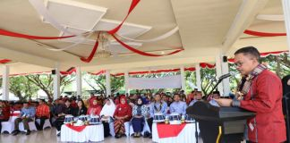 Bupati Bantaeng, Ilham Azikin diatas Podium saat pembukaan Jambore IPeKB tingkat Provinsi. (BERITA.NEWS/Saharuddin).