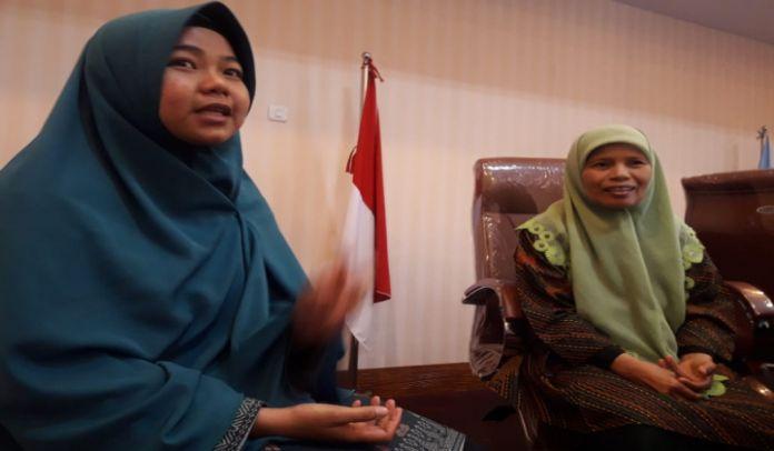 PD Aisyiyah Kabupaten Bantaeng, Aidah Pakkanna (kanan) dan Co-MAMPU Aisyiyah Bantaeng, Widya Hastuti. (BERITA.NEWS/Saharuddin).