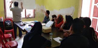 Mahasiswa Unismuh Makassar saat menerima materi dari kopel Bulukumba. (BERITA.NEWS/IL).