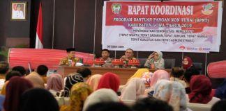 Rapat Koordinasi Program BPNT Kabupaten Gowa 2019 di Baruga Pattingalloang, Rumah Jabatan Bupati Gowa. (BERITA.NEWS/Putri)