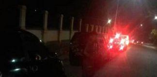 Puluhan personel kepolisian sudah berada dilokasi kejadian. (BERITA.NEWS/Saharuddin).