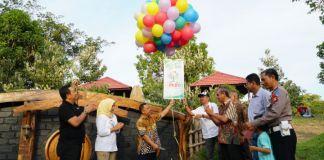 Louncing Wisata TEMANTA di Tandai dengan pelepasan balon. (BERITA.NEWS/Saharuddin).