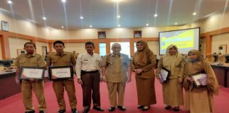 Beberapa OPD di Bantaeng yang menerima penghargaan. (BERITA.NEWS/Saharuddin).