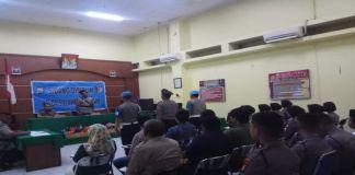 sidang disiplin di ruang Psikologi Sumber Daya Manusia (SDM), kantor Polisi Daerah (Polda) Sulawesi Selatan. (BERITA.NEWS).