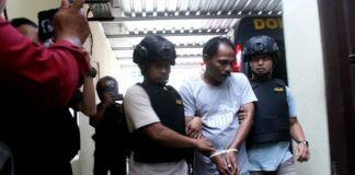 Syamsu Rijal alias Bang Jack saat diamankan. (BERITA.NEWS/Wahyu Adi Saputra).