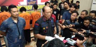 Wakapolda Sulsel Brigjend Pol Adnas gelar Press Conference di Aula Mappaodang. (BERITA.NEWS/Abdul Kadir).