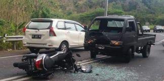 Kondisi Lakalantas Motor vs Mobil Jalan Poros Bulukumba - Sinjai. (BERITA.NEWS/IL).