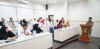 Sekda Gowa, Muchlis saat menghadiri Pendidikan dan Pelatihan PPD RPJMD di Gedung P2KP Lantai 2 Universitas Hasanuddin Makassar. (BERITA.NEWS/Putri).