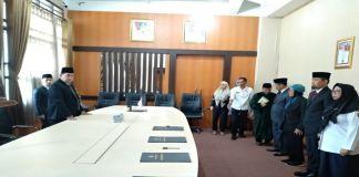 Pelantikan digelar diruang kerja Kepala Badan Kepegawaian Daerah (BKD) Sulsel. (BERITA.NEWS/Andi Khaerul).