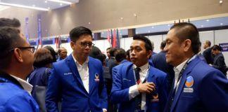 Tommy Satria Yulianto (Kedua dari Kiri) saat menghadiri kongres partai NasDem di Jakarta. (BERITA.NEWS/IL).