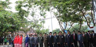 Suasana upacara hari pahlawan yabg digelar di lapangan pantai Seruni Bantaeng. (BERITA.NEWS/Saharuddin).