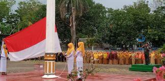 Upacara Hari Kesehatan Nasional di pimpin Dandim 1426 Takalar. (BERITA.NEWS/Sahabuddin Jaya).