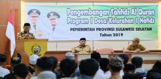 Wagub Sulsel Andi Sudirman buka Karantina II Program Satu Desa Tahfiz. (BERITA.NEWS/Andi Khaerul).