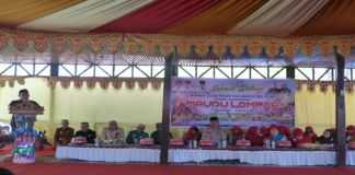 Wabup Takalar H Achmad Daeng Se're Saat memberikan sambutan. (BERITA.NEWS/Sahabuddin Jaya).