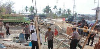AKBP Syamsu Ridwan cek pembangunan Ruang pelayanan Publik Polres Bulukumba. (BERITA.NEWS/IL).
