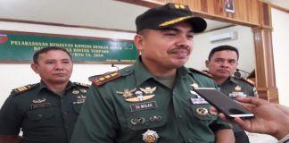 Dandim 1410 Bantaeng, Letkol CZI Tombohule Wulaa. (BERITA.NEWS/Saharuddin).