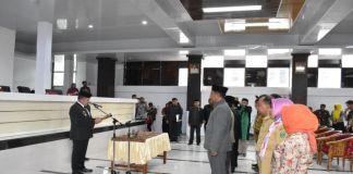 Pelantikan Pejabat Esalon di Ruang Pola Kantor Bupati Takalar. (BERITA.NEWS/Sahabuddin Jaya).