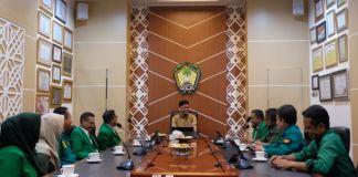 Jajaran pengurus Partai Persatuan Pembangunan (PPP) Gowa saat mengunjungi Bupati Adnan Purichta Ichsan membahas terkait agenda Hari Lahir PPP. (Foto:BERITA.NEWS/Putri).