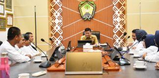 Jajaran PPDI Gowa saat mengunjungi Bupati Gowa, Adnan Purichta Ichsan di ruang rapat Bupati. (Foto: BERITA.NEWS/Putri).