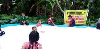 Kolam air bagai susu yang viral di Kabupaten Gowa. (Foto: BERITA.NEWS/Putri).