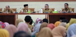 Rapat Koordinasi Perbaikan Data Kependudukan pada Data Terpadu Kesejahteraan Sosial (DTKS). (Foto: BERITA.NEWS/Putri).