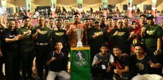 Bupati Gowa, Adnan Purichta Ichsan saat membuka secara resmi turnamen Bupati Gowa Futsal Cup 2020. (Foto: BERITA.NEWS/Putri).