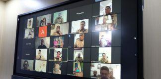 Telekonference Bupati Gowa bersama jajarannya. (Foto: BERITA.NEWS/Putri)
