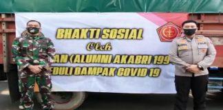 Penyaluran ribuan paket sembako di beberapa daerah dan provinsi oleh Palagan Akabri 94. (Foto: Ist).
