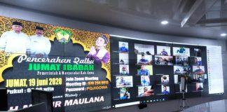 Pencerahan Qalbu jumat ibadah virtual yang rutin dilakukan Pemkab gowa selama masa Pandemi. (Foto:ist).