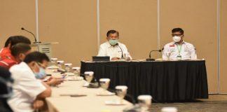 Jusuf Kalla saat melakukan pertemuan di Gedung Wisma Kalla. (Foto: berita.news/Putri).