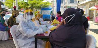 Pelaksanaan rapid test massal di Kabupaten Gowa. (Foto: berita.news/Putri)