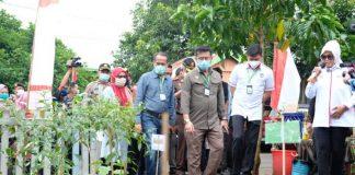 Mentan RI Syahrul Yasin Limpo saat berkunjung ke Kabupaten Gowa. (Foto: berita.news/Putri)