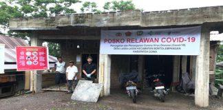 Salah satu posko relawan covid di Kecamatan Tinggimoncong. (Foto: ist).