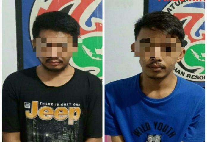 Kedua mahasiswa yang diamankan Unit Drugs Hunter Polres Takalar.