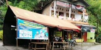 Posko siaga Covid-19 berbasis RT di Kecamatan Tinggimoncong Kabupaten Gowa. (Foto: berita.news/Putri)
