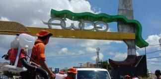 Penjagaan perbatasan jelang penerapan PSBB di Kabupaten Gowa. (foto: berita.news/Putri)