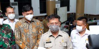 Menteri Pertanian Syahrul Yasin Limpo saat berkunjung ke Kabupaten Gowa didampingi Bupati Gowa, Adnan Purichta Ichsan/(foto: berita.news/Putri)