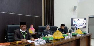 Jajaran Pimpinan DPRD Kabupaten Gowa. (Foto: berita.news/Putri)