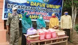 Dapur umum Kecamatan Tompobulu Kabupaten GOwa. (Foto: Berita.news/Putri)